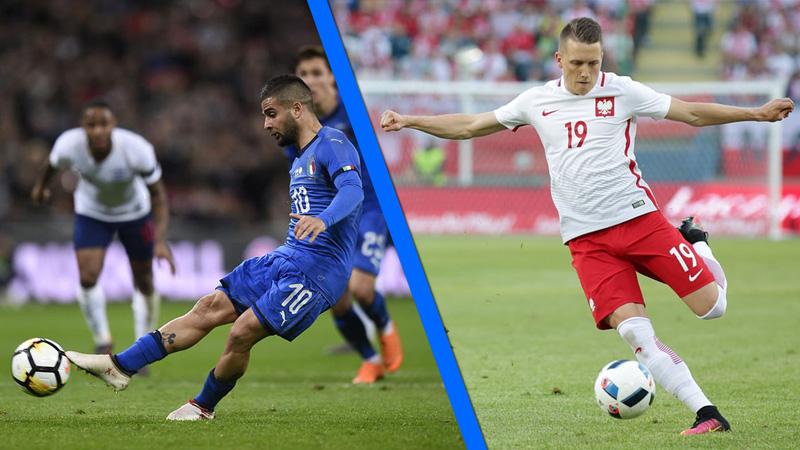 Insigne e Zielinski in gol con le rispettive Nazionali