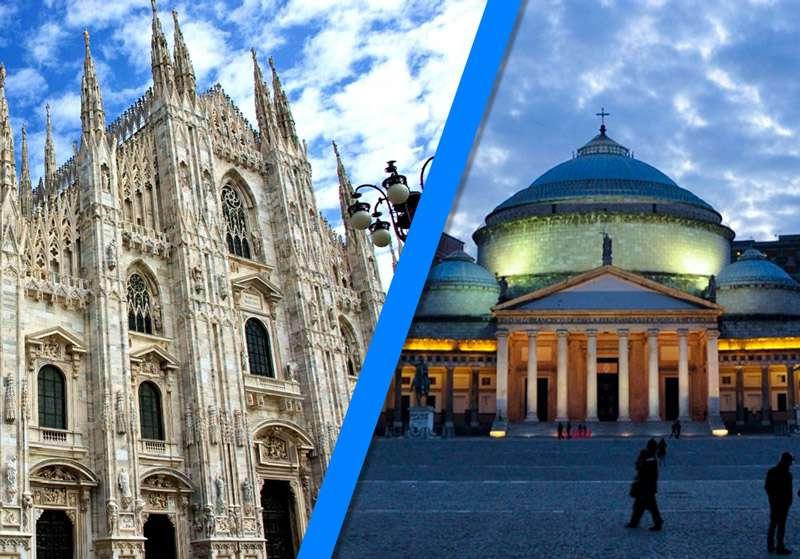 Napoli e Milano capitali di due Italie diverse