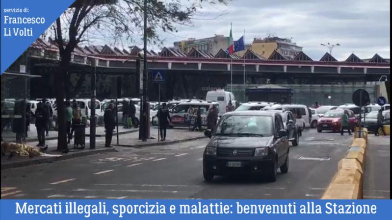 ambulanti, piazza garibaldi, napoli, stazione, degrado, extracomunitari