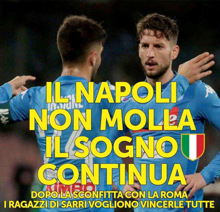 Il Napoli non vuole mollare