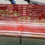 Una panchina rossa per dire NO alla violenza sulle donne