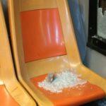 Baby gang all'opera: sassi contro un bus