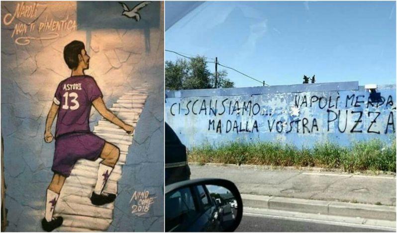 Firenze e Napoli: quando le scritte sui muri riflettono la civiltà di un popolo