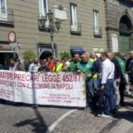 Napoli, il corteo dei precari in protesta