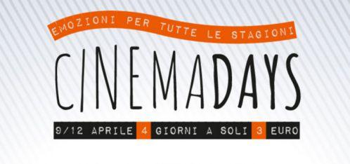 cinemadays, biglietti 3 euro, napoli