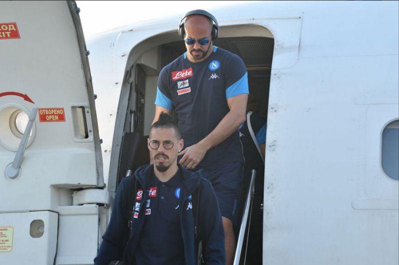 L'arrivo del Napoli a Torino: la missione è iniziata