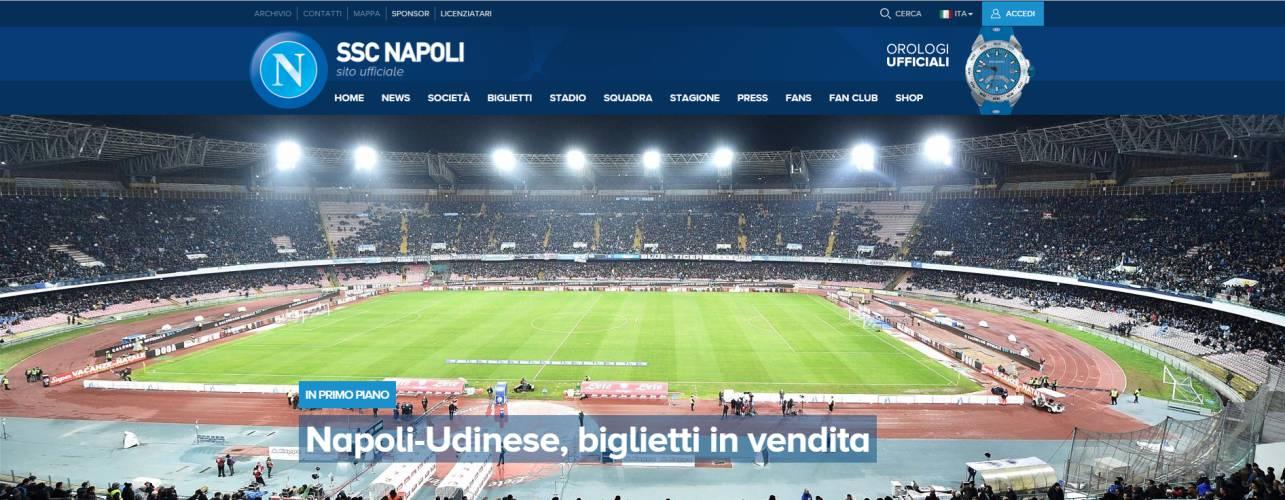 Napoli-Udinese: via alla prevendita