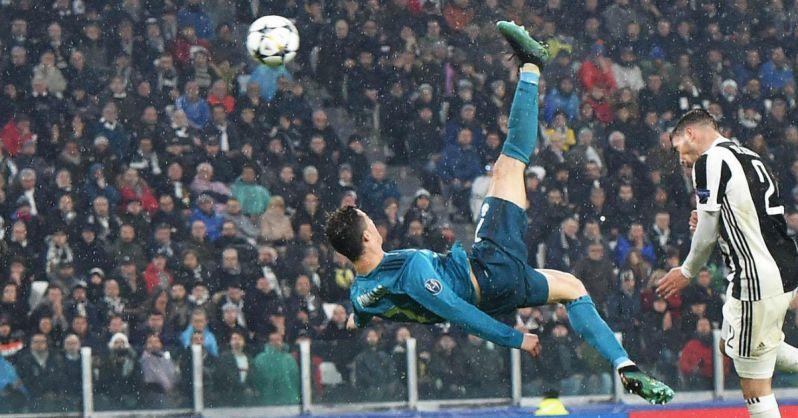Cristiano Ronaldo, rovesciata balistica da vero fenomeno