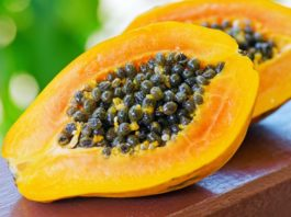 papaya, frutto tropicale