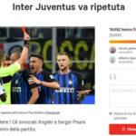 «Inter-Juve da ripetere». Angelo e Sergio Pisani lanciano la petizione