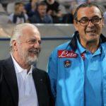 Sarri e De Laurentiis: oggi il faccia a faccia