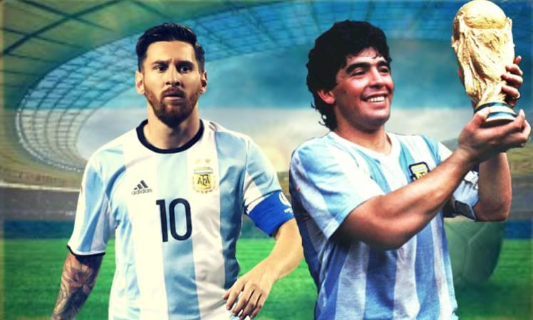 messi, maradona, mondiali