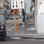 Maltempo, chiusura del traffico di corso Garibaldi all'incrocio con via Marina