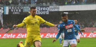 Lorenzo Insigne durante Napoli - Chievo. La legge di Murphy punisce l'unidici di Carletto