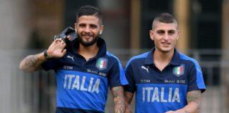 ella foto Insigne e Verratti, i due piccoletti, con la maglia della Nazionale: