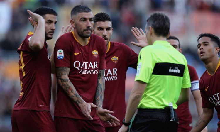 roma-sampdoria, var, rigore annullato
