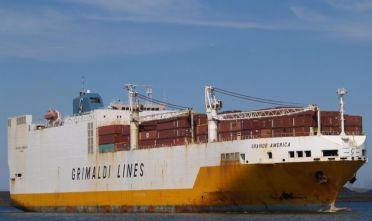 Avaria a nave merci Grimaldi ad Olbia, rientro in porto. Capitaneria decide di fare attraccare cargo diretto a Cagliari