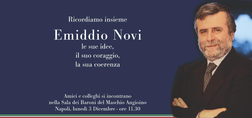 locandina invito evento di commemorazione emiddio novi