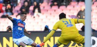 sorprese azzurre Milik contro il Frosinone