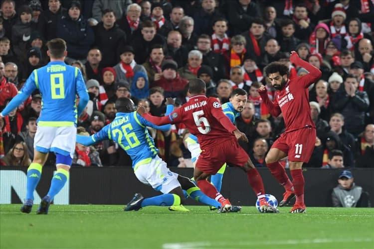 fuori dalla champions Liverpool-napoli