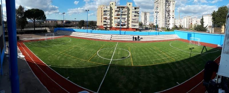 Ponticelli, il campo sportivo ricostruito