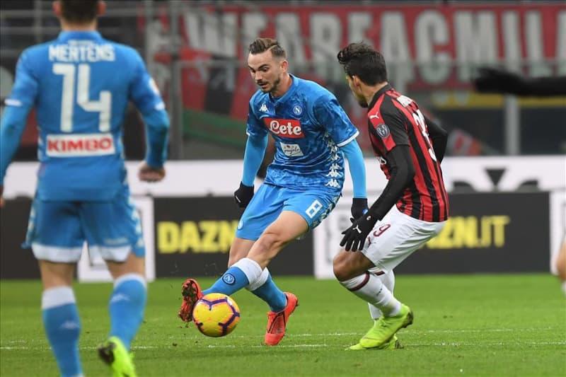 """Il superNapoli d'attacco gira a vuoto. Contro il Milan i """"piccoletti"""" sono spariti e Fabiàn Ruiz è rimasto solo a centrocampo"""