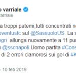 Enrico Varriale: Consigli uomo partita in Sassuolo-Juventus... con due errori clamorosi!