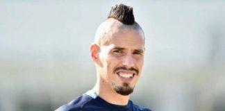 giro di campo prima di Napoli - Udinese -Hamsik in Cina