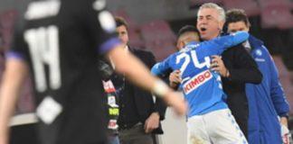Insigne torna al gol e abbraccia Ancelotti