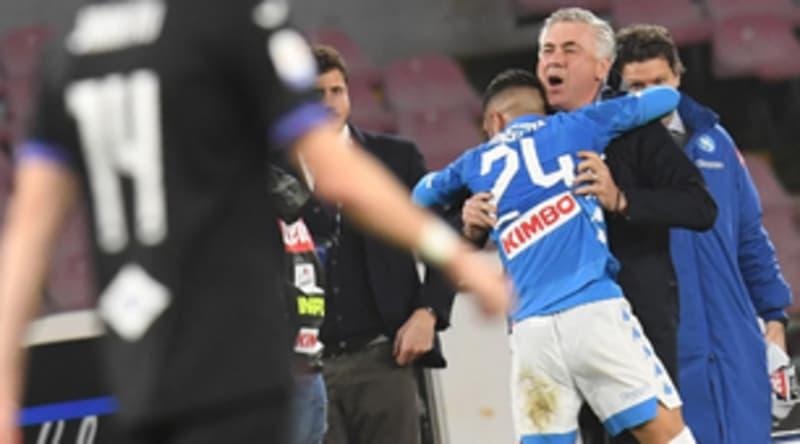 """Insigne torna al gol e abbraccia Ancelotti: """"Me l'aveva detto che avrei segnato oggi"""""""