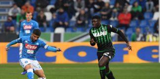 Sassuolo-Napoli pari deludente