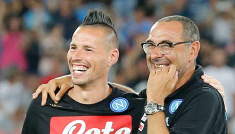 ex Sarri e Hamsik - partita Napoli Juve