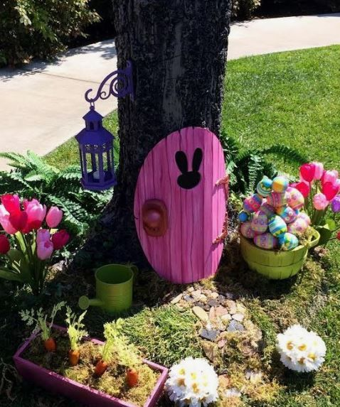 Decorazioni pasquali giardino ( source: Pinterest )