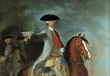 Un dipinto raffigurante Carlo di Borbone