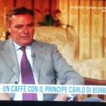 """(Video) Intervista Rai a Carlo di Borbone: """"Bentornato in Italia"""". E lui: """"A Napoli"""""""