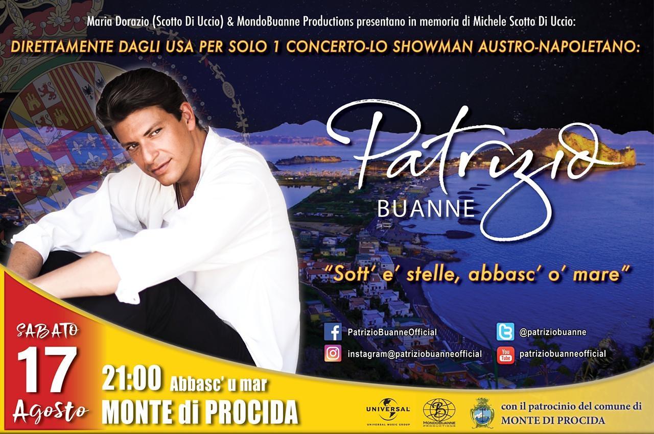 Patrizio Buanne in concerto il 17 agosto al Monte di Procida