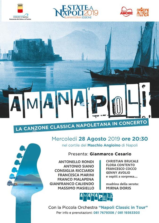 """""""Amanapoli"""", la canzone classica napoletana in concerto al Maschio Angioino"""