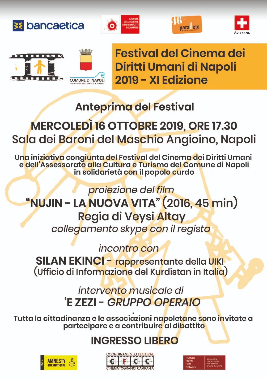 """Napoli per il popolo curdo: """"Nujin – La nuova vita"""" al Maschio Angioino"""