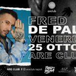 Fred De Palma a Napoli: l'Are Club accoglie il rapper che ha spopolato in Italia con la sua hit estiva