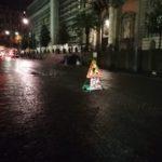 """Pioggia a Napoli: """"nuova buca"""" in piazza Museo"""