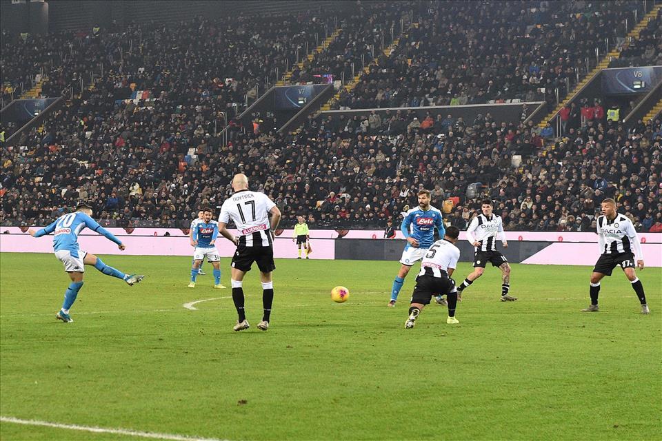 Udinese Napoli 1 a 1, azzurri ancora a secco di vittore, la zona Europa si allontana ancora di più