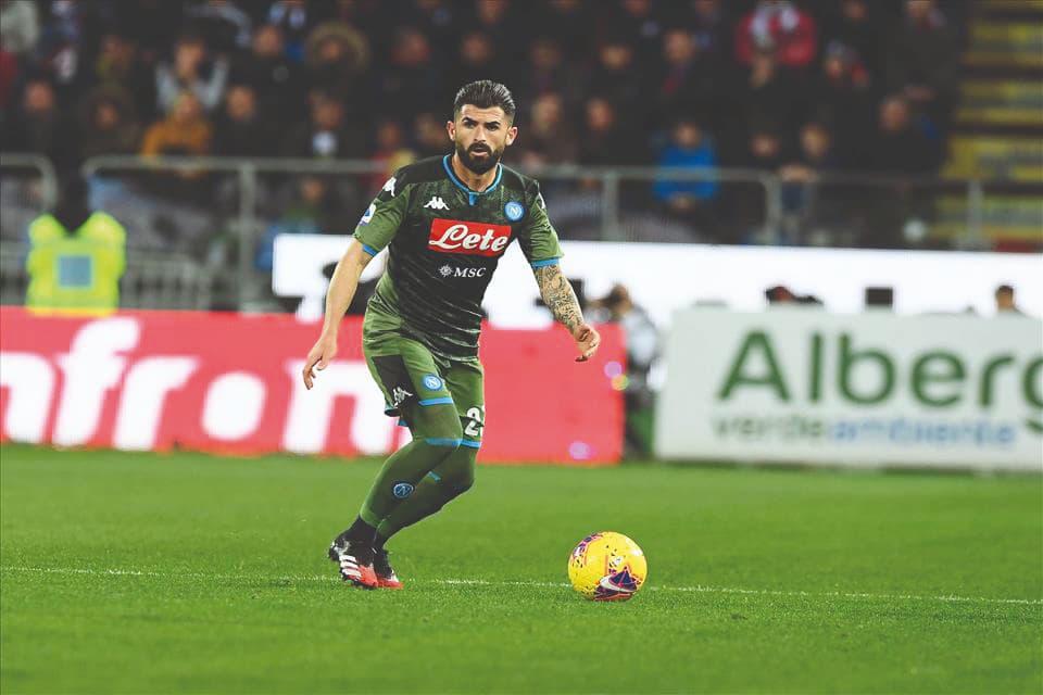 Elseid Hysaj in azione a Cagliari