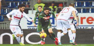 Dries Mertens in azione a Cagliari