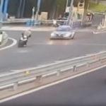 - (VIDEO) - Fugge all'alt della Polizia, Honda Sh contromano sulla Tangenziale di Napoli