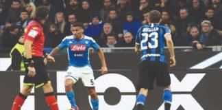 Allan durante l'ultima apparizione in maglia azzurra al Meazza contro l'Inter in Coppa Italia