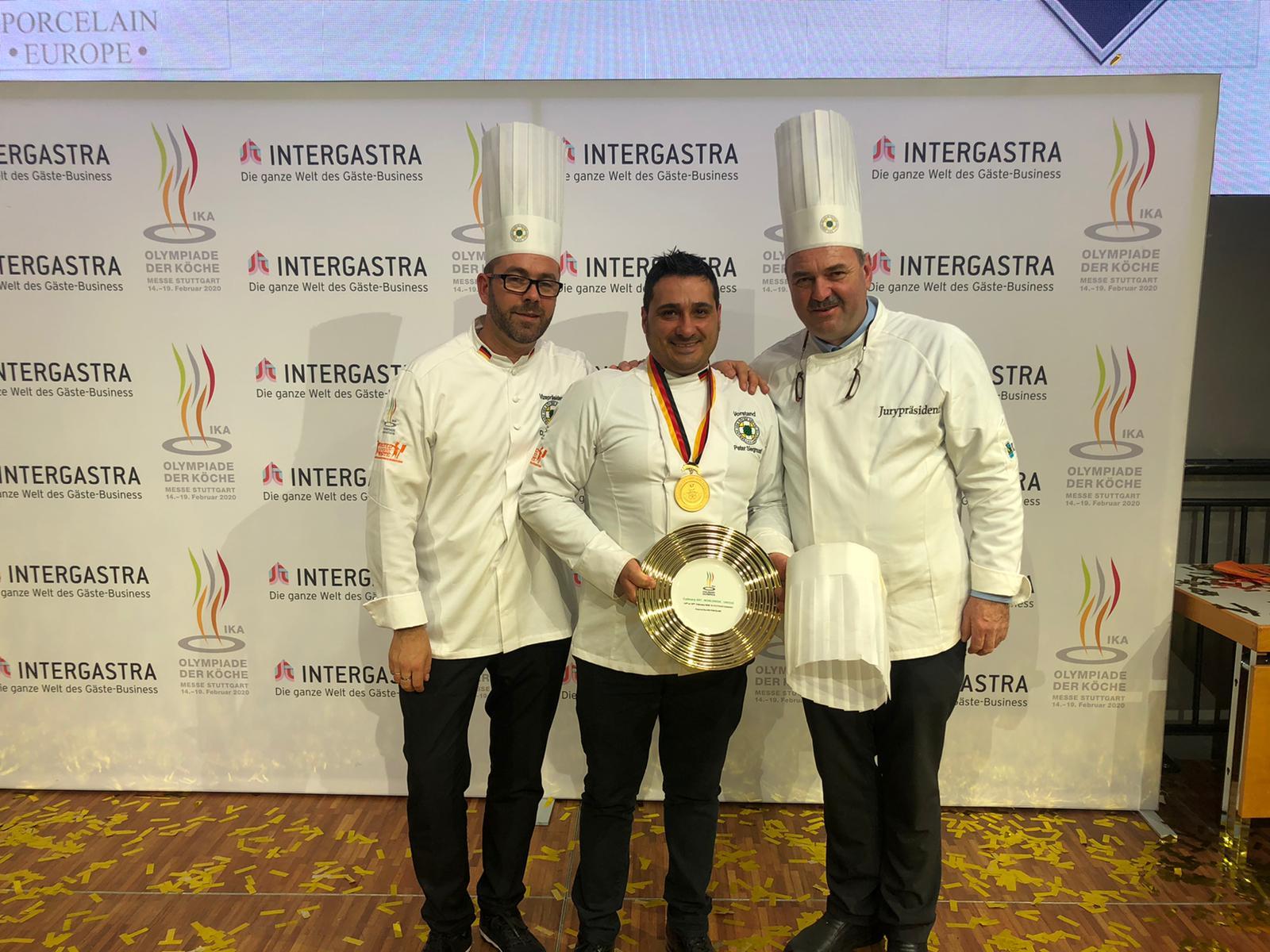 Luigi Nastro conquista l'oro alle olimpiadi culinarie a Stoccarda