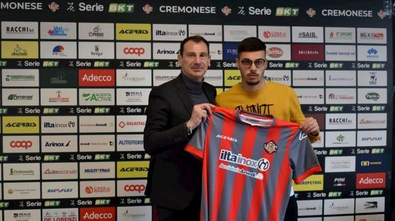 Gianluca Gaetano con il presidente della Cremonese