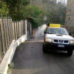 (Foto) Coronavirus, sanificazione strade: proseguono gli interventi