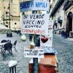 Coronavirus: in vendita a Napoli il vaccino. Ma è per ridere