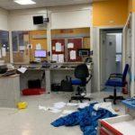 Minore ucciso, ospedale devastato